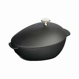 Staub Mussel Pot - 2Qt - Black Matte With Knob - 1102523