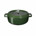 Staub Wide Round Shallow Cocotte - 4Qt - Basil - 1112685