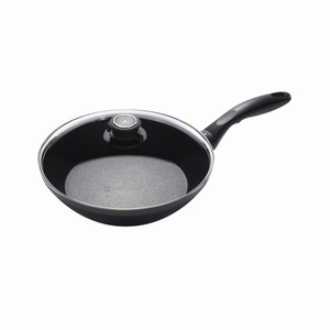 "Swiss Diamond - 9.5"" EDGE Stir Fry Pan w/Lid - 6524c"