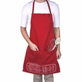 The Smart Baker Cheat Sheet Apron - Red - TSB4164