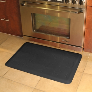WellnessMats Motif Collection - Bella - Black - 3' x 2' - MB32WMRBLK