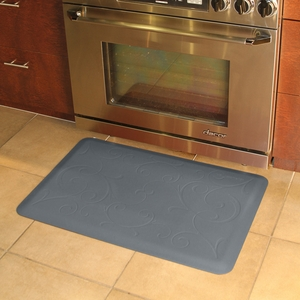 WellnessMats Motif Collection - Bella - Grey - 3' x 2' - MB32WMRGRY