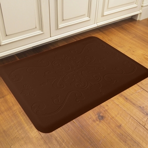 WellnessMats Motif Collection - Entwine - Brown - 3' x 2' - ME32WMRBRN