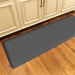 WellnessMats Motif Collection - Entwine - Grey - 6' x 2' - ME62WMRGRY