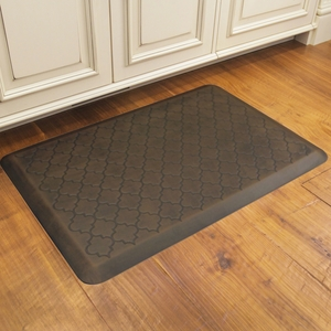 WellnessMats Motif Collection - Trellis - Antique Dark - 3' x 2' - MT32WMRDB