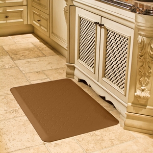 WellnessMats Motif Collection - Trellis - Tan - 3' x 2' - PMT32WMRTAN