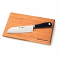 "Wusthof Grand Prix II - 7"" Hollow Edge Santoku Knife w/Bamboo Board - 1555"
