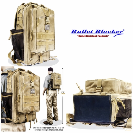 BulletBlocker NIJ IIIA Bulletproof Falcon Backpack