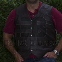 BulletBlocker NIJ IIIA Bulletproof Leather Western Vest