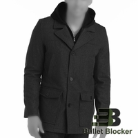 BulletBlocker NIJ IIIA Bulletproof Wool Hooded Coat