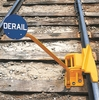 Aldon 4014-02 1-Way Hinged Railroad Derail (Right Throw) With Manual Sign Holder,