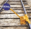 Aldon 4014-03-5D 2-Way Hinged Railroad Derail For Freight Cars With Manual Sign Holder, Size 5
