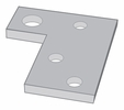 Aldon 4014-27 Shim For Hinged Derails With Pop-Up Signs-1/4""