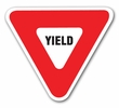"Aldon 4015-148 Triangular ""Yield"" Sign, High Intensity"