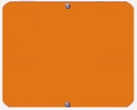 Aldon 4015-18-O Blank Orange Sign Plate