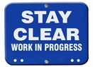 Aldon 4015-273 Stay Clear - Work In Progress Blue