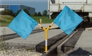 Aldon 4015-55 Magnetic Base Twin Flag Holder