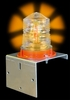 Aldon 4015-57 Solar Flashing Light, Amber, With Bolting Bracket