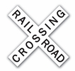 "Aldon 4015-74 Railroad Crossing, 9"" X 48"" Crossbuck, Hi-Intensity"