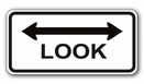 "Aldon 4015-84 Look 36"" X 18"" Hi-Intensity Sign"