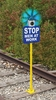 Aldon 4015-93 Spur Track Guardian - Hinged Sign Holder With Solar Light