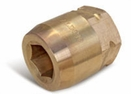 Aldon 4024-245 Bronze Socket Inserts For Never Slip Holders Hex: 1-9/16""