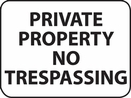 "Aldon 4115-40 ""Private Property"" Sign"
