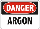 Aldon 6-ARG Danger - Argon Sign