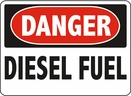 Aldon 6-DIES Danger - Diesel Fuel Sign