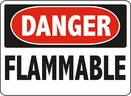 Aldon 6-FLAMM Danger - Flammable Sign