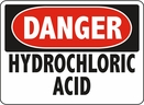 Aldon 6-HYDRO Danger - Hydrochloric Acid Sign