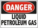 Aldon 6-LIQP Danger - Liquid Petroleum Gas Sign