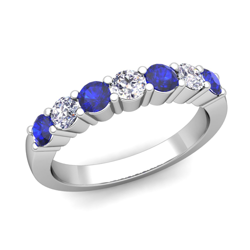 Order Now Ships On Wednesday 1 24Order In 5 Business Days 7 Stone Diamond And Sapphire Wedding