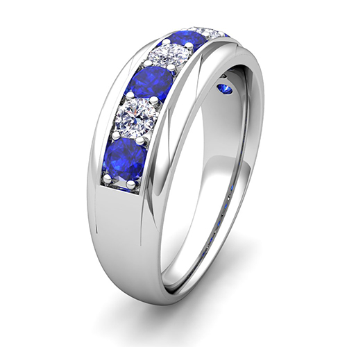 forever brilliant wedding band - Mens Sapphire Wedding Rings