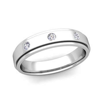 Build 3 Stone Wedding Band Ring For Men With Diamonds Or Gemstones