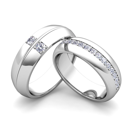 Wedding Bands For Him And Her: Build Comfort Fit Wedding Bands For Him And Her With