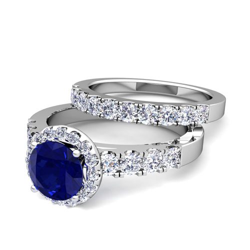 Build Your Own Halo Engagement Ring Bridal Set In Pave