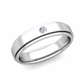 Build Solitaire Wedding Band Ring For Men With Diamonds Or Gemstones