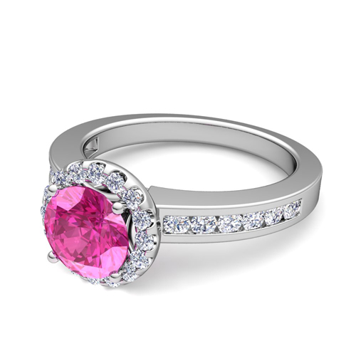 Build Your Own Engagement Ring With Gemstones In Channel