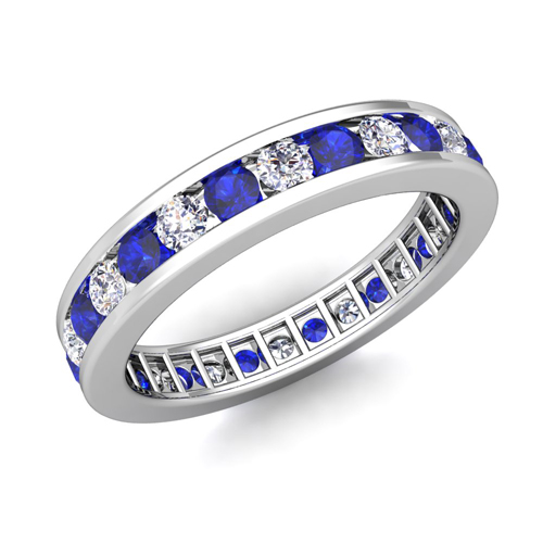 Channel Set Diamond And Sapphire Eternity Band Ring In 18k. Catholic Wedding Rings. Arabic Wedding Rings. Eco Friendly Engagement Rings. Vintage Scroll Engagement Wedding Rings. Raw Metal Wedding Rings. Story Engagement Rings. Accessory Engagement Rings. Large Diamond Rings