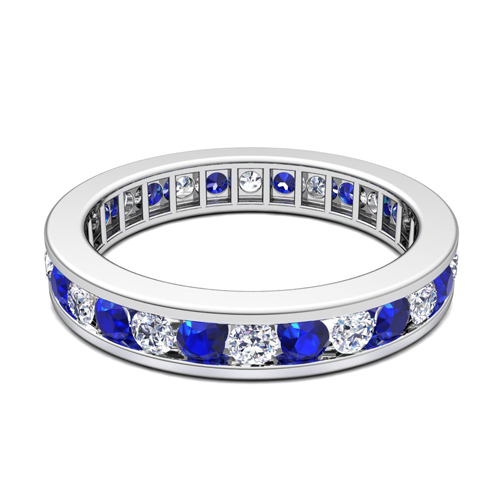 Channel Set Diamond And Sapphire Eternity Band Ring In. Screw Rings. Snow Queen Engagement Rings. Split Band Engagement Rings. Ancient Egyptian Rings. Chocolate Diamond Wedding Rings. Solitaire Wedding Rings. Rajasthani Rings. Mikimoto Pearl Wedding Rings