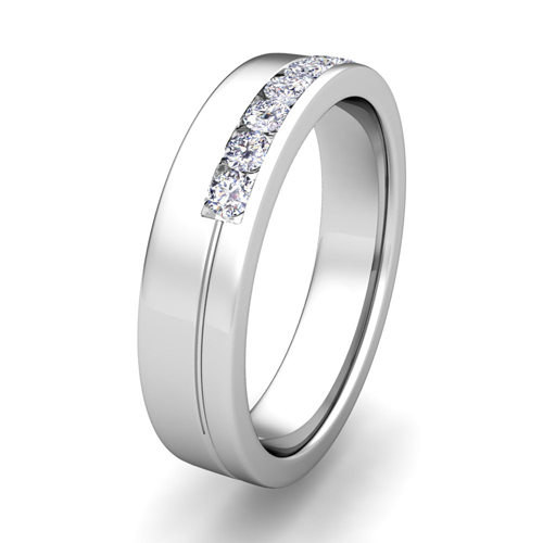 Channel Set Comfort Fit Ring This Mens Wedding