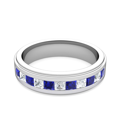 perfect wedding ring for men or women order now ships on tuesday 620order now ships in 6 business days - Mens Sapphire Wedding Rings