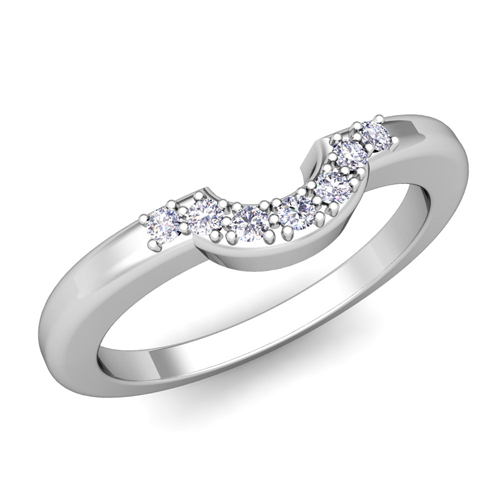 classic curved wedding band