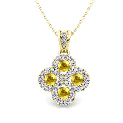 yellow sapphire necklace - photo #29