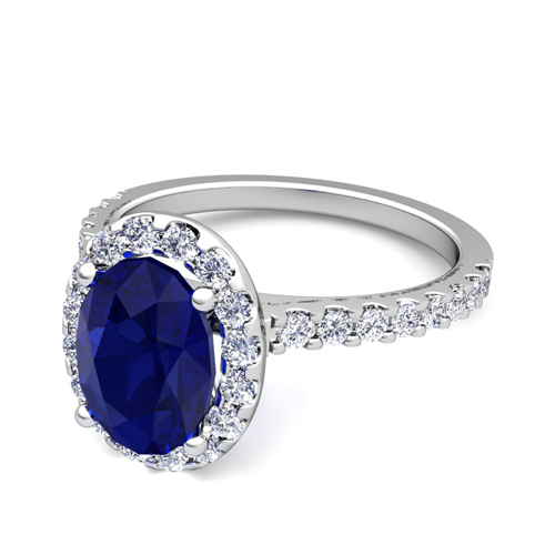 Create Your Own Engagement Ring With Gemstones In Pave Diamonds