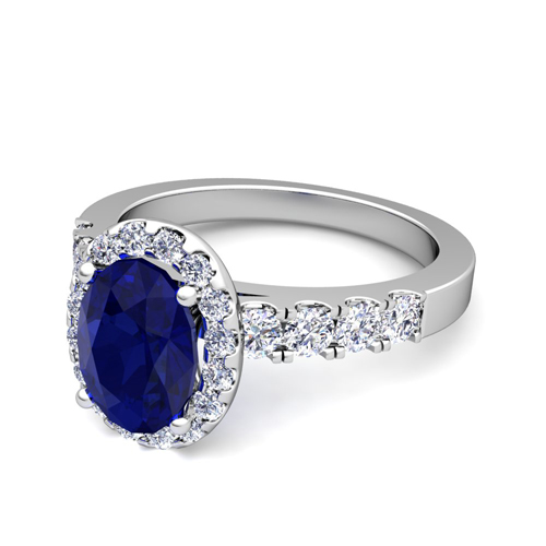 create your own engagement ring in halo gemstone ring