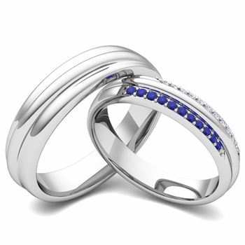 ... Matching Wedding Ring Band for Him and Her with Diamonds Gemstones