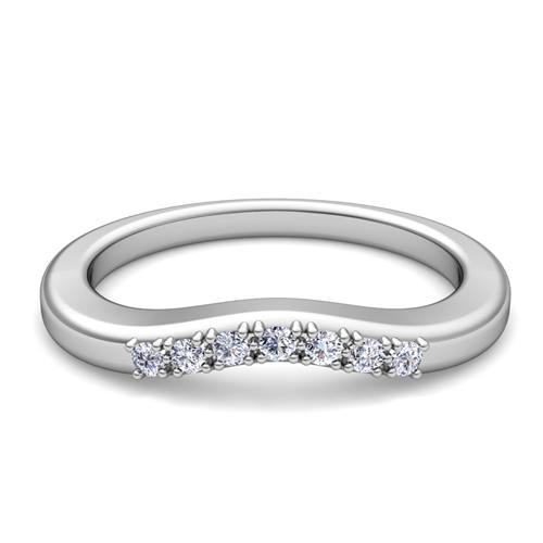 curved wedding band the