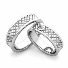 custom fancy wedding ring band for him and her with diamonds and gemstones - Wedding Ring Bands For Her
